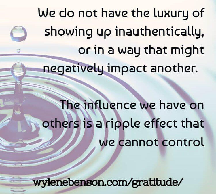 Gratitude for Influencing