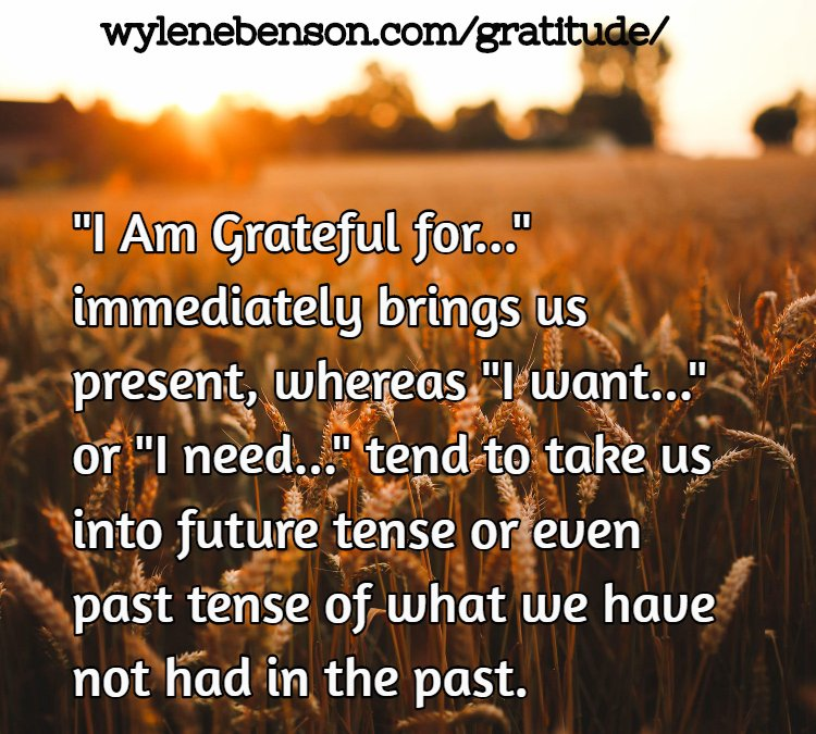 Gratitude for The Law of Attraction