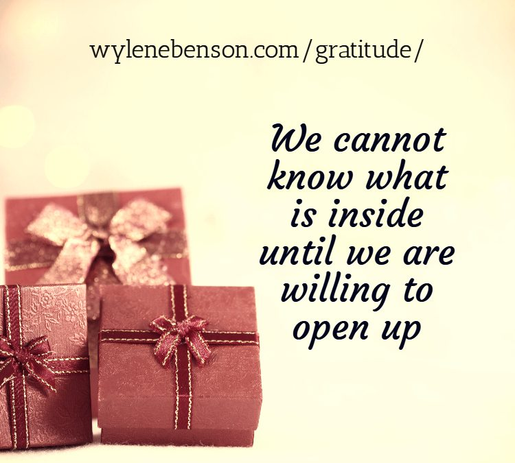 Gratitude for Opening Up