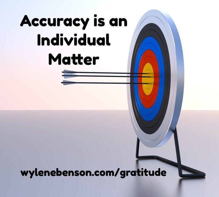 Gratitude For Accuracy