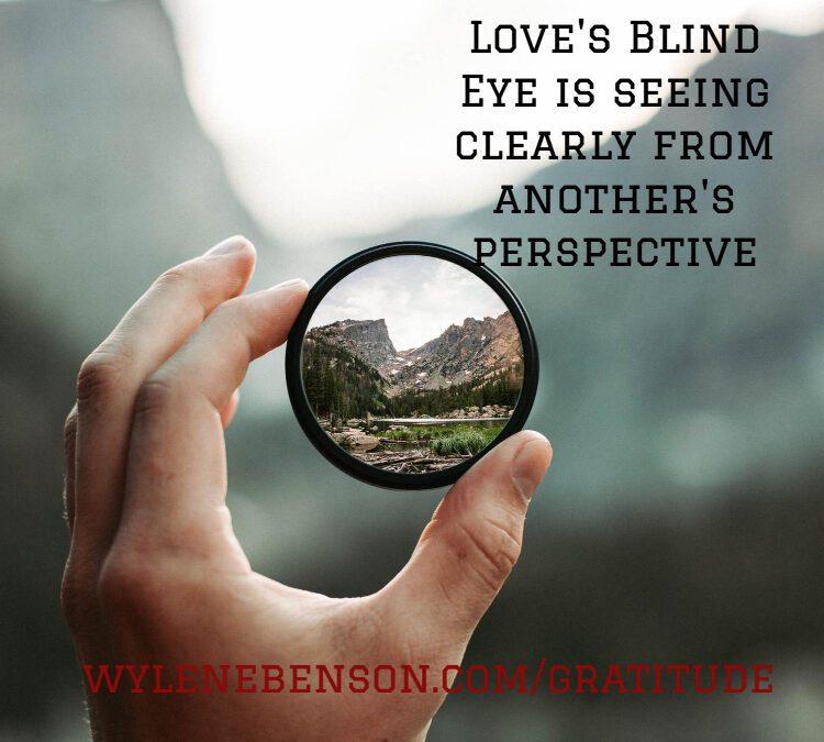 Gratitude For Love's Blind Eye