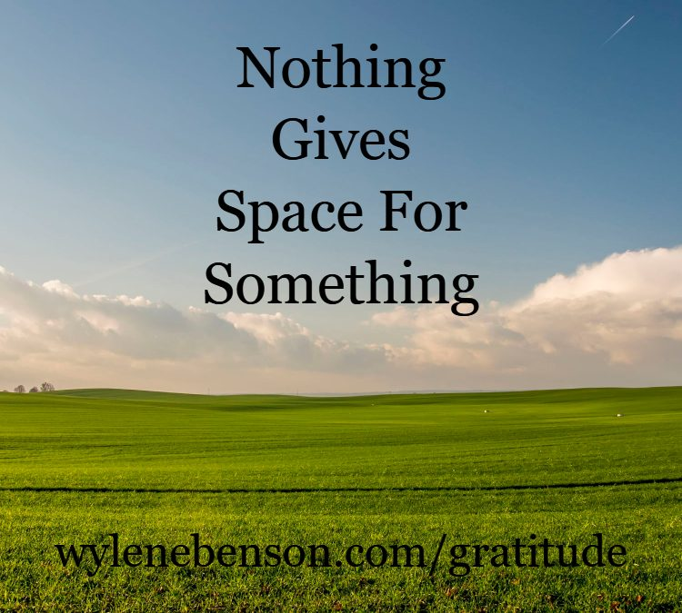 Gratitude For Awareness Of Space
