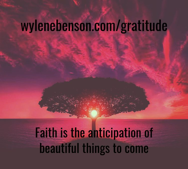Gratitude For Anticipation Of Change