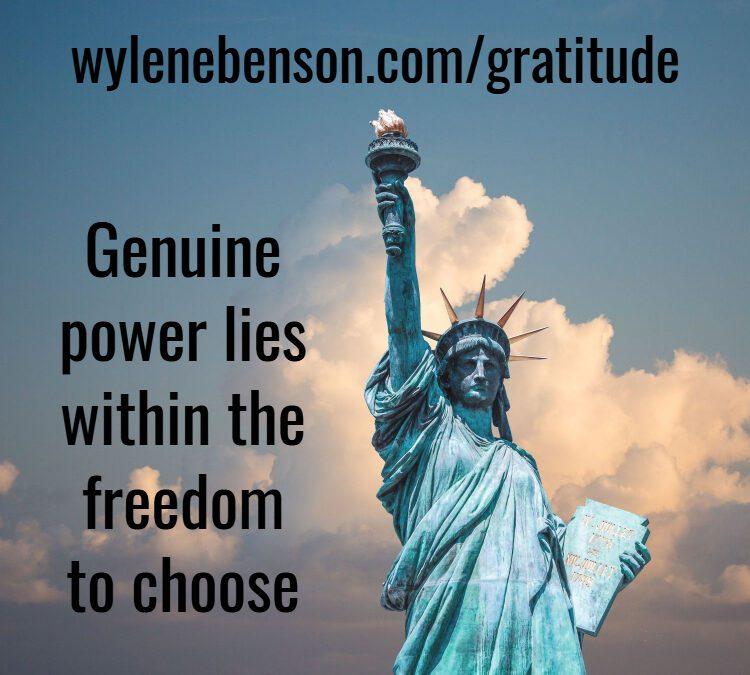 Gratitude For Liberty