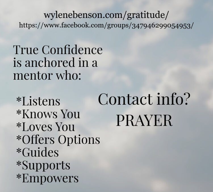 Gratitude for Prayer