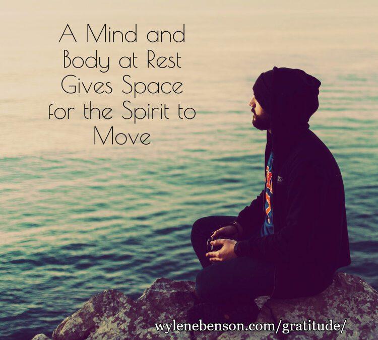 Gratitude for Body Mind Spirit Connection