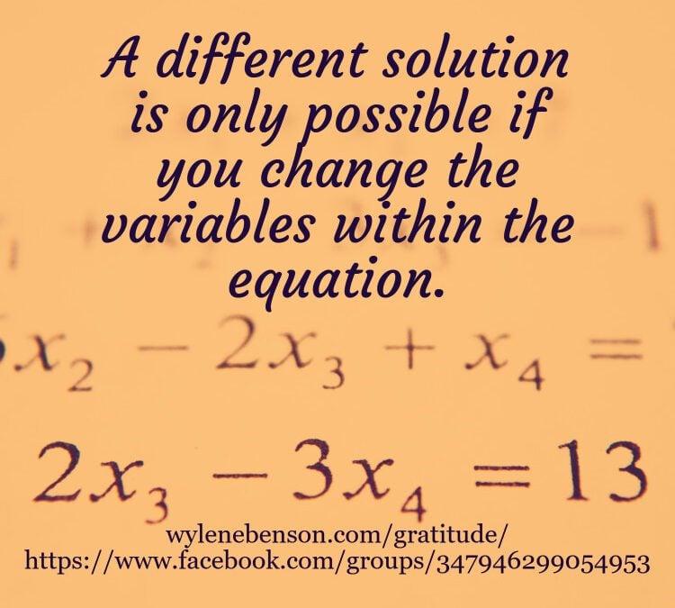 """Gratitude for Solving for """"x"""""""
