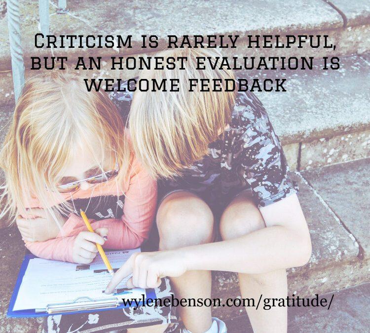 Gratitude for Honest Evaluations