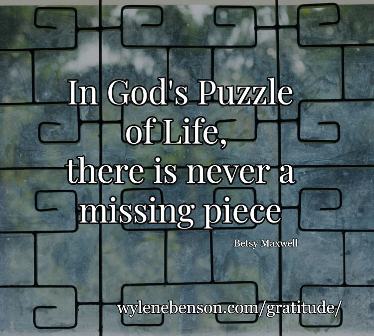 Gratitude for Clarifying the Missing Pieces